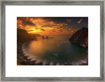 Sunset In Silence Framed Print