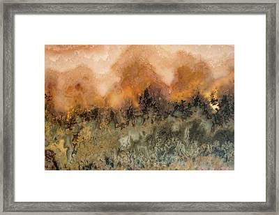 Sunset In Stone Framed Print by Leland D Howard