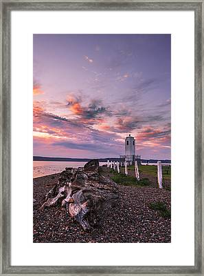 Sunset In Tacoma Framed Print