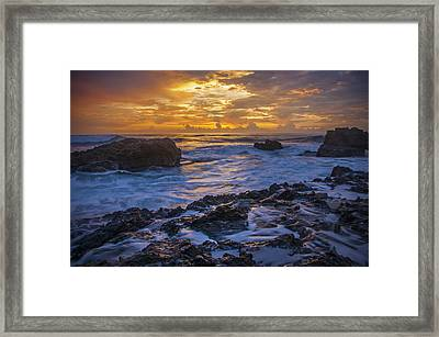 Sunset In Tamarindo Framed Print