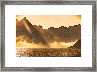 Framed Print featuring the photograph Sunset In The Arctic  by Maciej Markiewicz