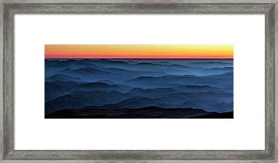 Sunset In The Atacama Desert Framed Print