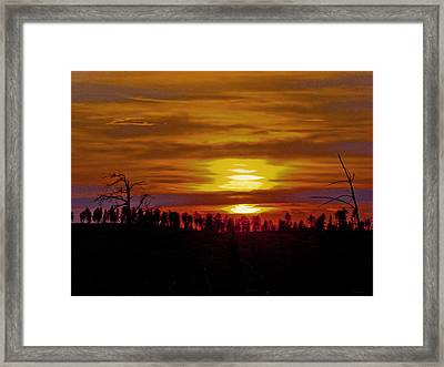 Framed Print featuring the photograph Sunset In The Black Hills 2 by Cathy Anderson