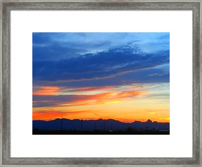 Sunset In The Black Mountains Framed Print