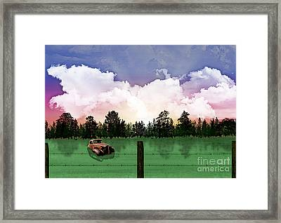 Sunset In The Boondocks Framed Print