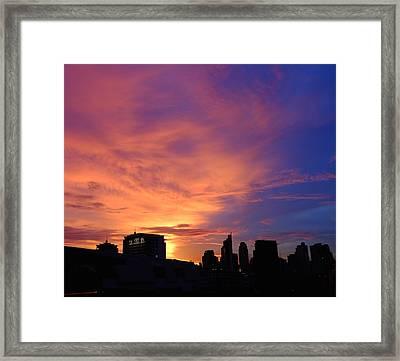Sunset In The City Framed Print