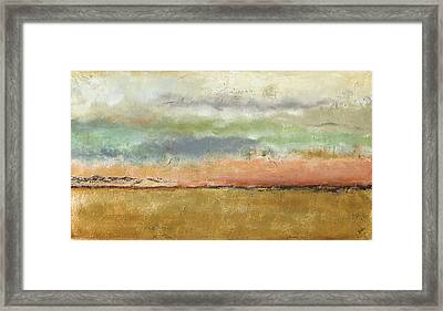 Sunset In The Cornfield Framed Print