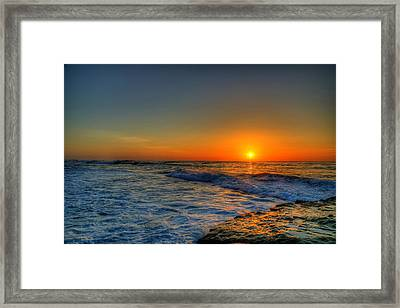 Sunset In The Cove Framed Print