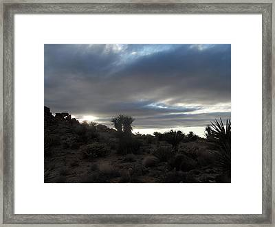 Sunset In The Desert Framed Print by James Welch