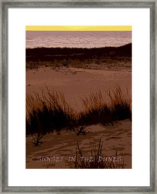 Sunset In The Dunes Framed Print by Michelle Calkins