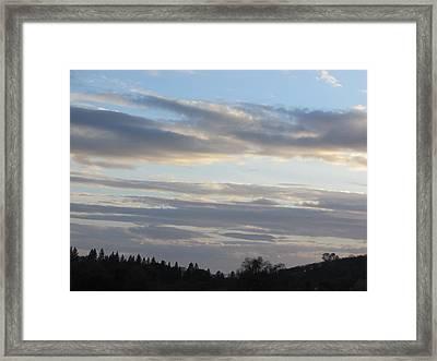 Sunset In The Foothills Framed Print by Debra Madonna