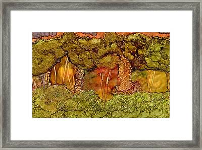 Sunset In The Forest Framed Print by Bellesouth Studio