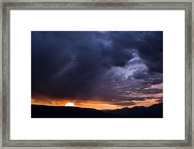 Sunset In The French Alps Framed Print
