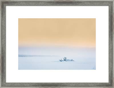 Sunset In The Frozen Landscape, Cold Framed Print by Panoramic Images