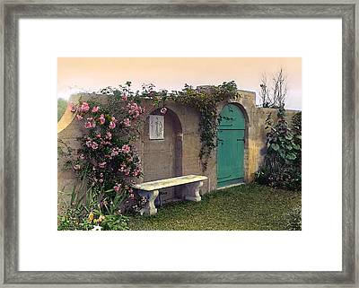 Sunset In The Garden Framed Print