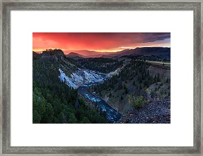 Sunset In The Greater Yellowstone Framed Print