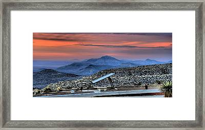 Sunset In The Guadalupes Framed Print