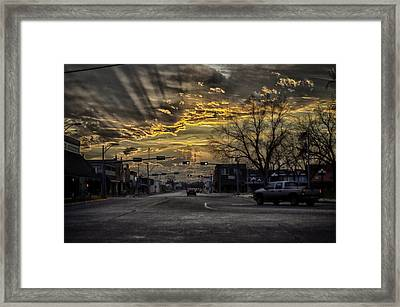 Sunset In The Heart Of Texas Framed Print