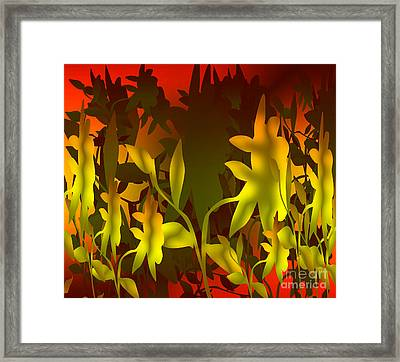 Sunset In The Jungle Framed Print by Gayle Price Thomas