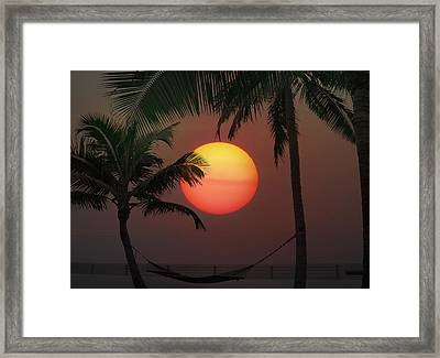 Sunset In The Keys Framed Print by Bill Cannon