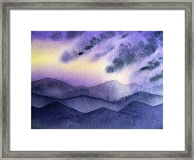 Sunset In The Mountains Framed Print by Irina Sztukowski