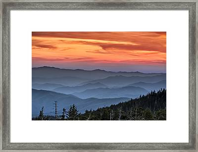 Sunset In The Smokies Framed Print