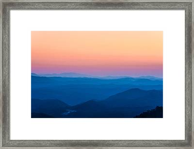 Sunset In The Smoky Mountains 1 Framed Print