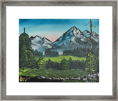Sunset In The Valley Framed Print by Dave Atkins