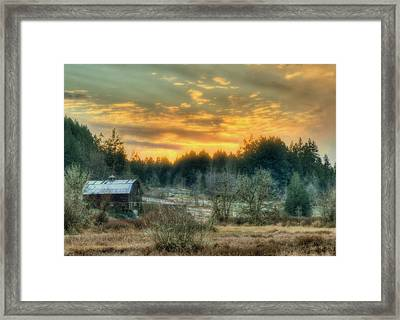 Sunset In The Valley Framed Print by Jeff Cook
