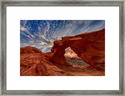 Sunset In The Valley Of Fire Framed Print by Rick Berk