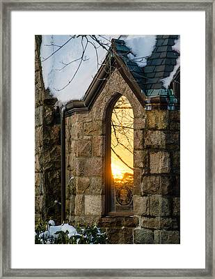 Sunset In The Window Framed Print