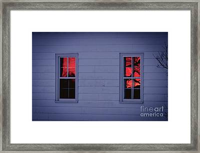 Sunset In The Windows Framed Print by Cheryl Baxter