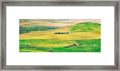 Sunset In Tuscany Framed Print