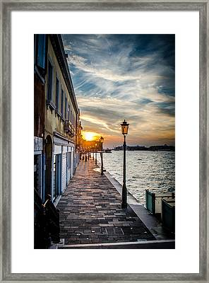 Sunset In Venice Framed Print by Stefan Hoareau