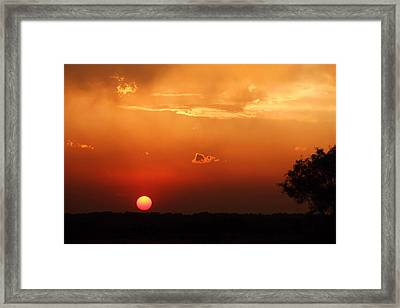 Sunset In West Texas Framed Print