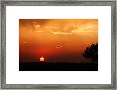 Sunset In West Texas Framed Print by Elizabeth Budd
