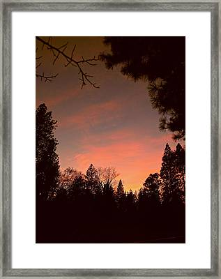 Sunset In Winter Framed Print by Michele Myers