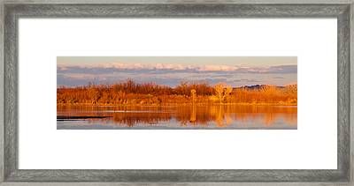 Sunset In Winter Framed Print
