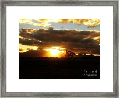 Sunset In Worcerster Framed Print by Willinda Swart