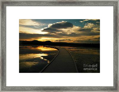 Sunset In Yellow Stone Framed Print by Jeff Swan