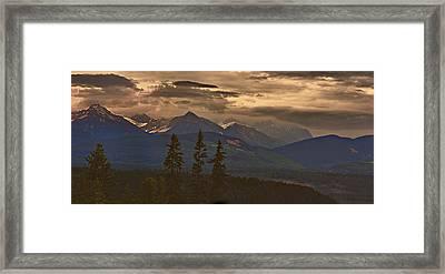 Sunset In Yoho Framed Print by Janet Ashworth