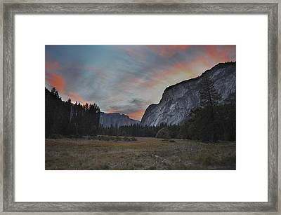 Sunset In Yosemite Valley Framed Print by Alex King