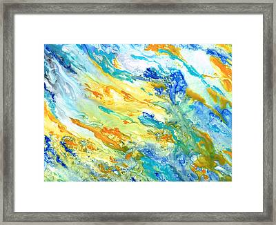 Sunset Inspired Framed Print by Rosie Brown