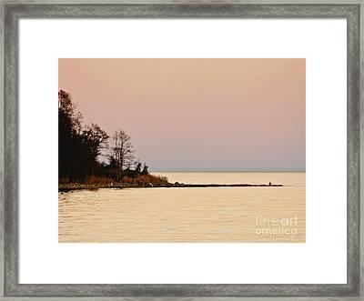 Sunset Into A Peaceful Life Framed Print by Carol F Austin