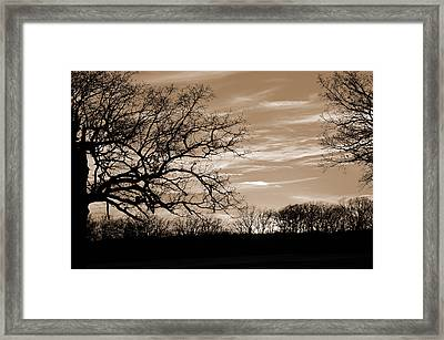 Sunset Is Sepia  Framed Print