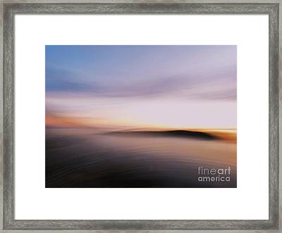 Sunset Island Dreaming Framed Print by Andy Prendy