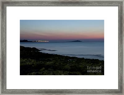 Sunset Island Framed Print