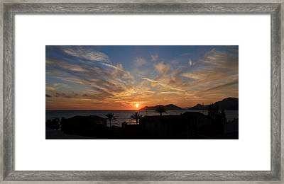 Sunset Framed Print by Ivelin Donchev