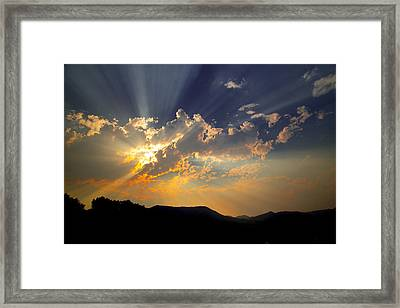 Sunset Framed Print by Jim Snyder