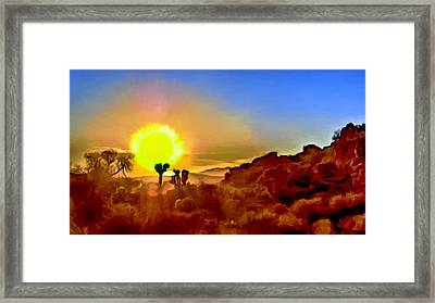 Sunset Joshua Tree National Park V2 Framed Print